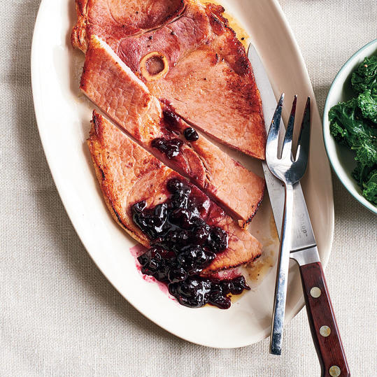Ham with Spiced Cherry Sauce
