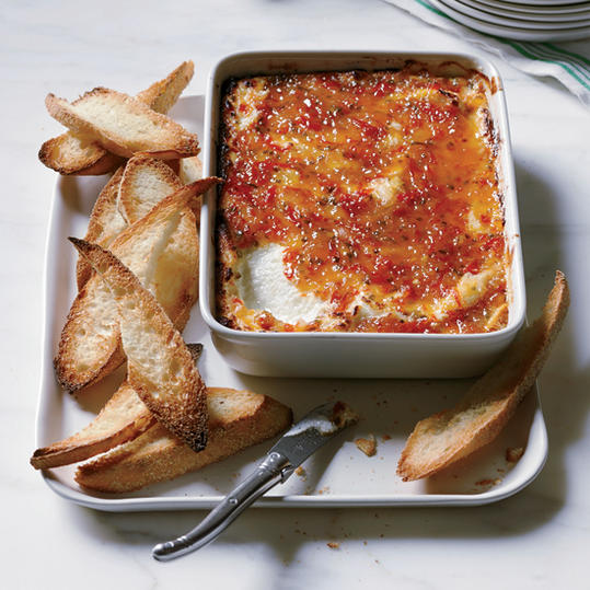 Pepper-Glazed Goat Cheese Gratin