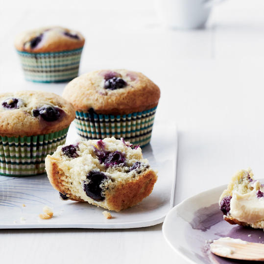 Blueberry Muffins with Banana Butter