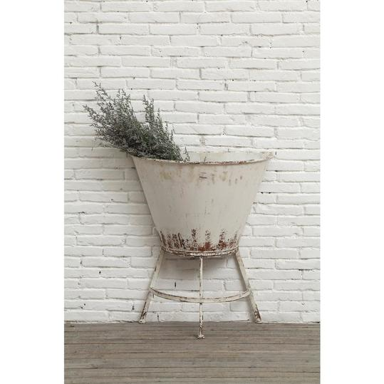 White Metal Wall Planter