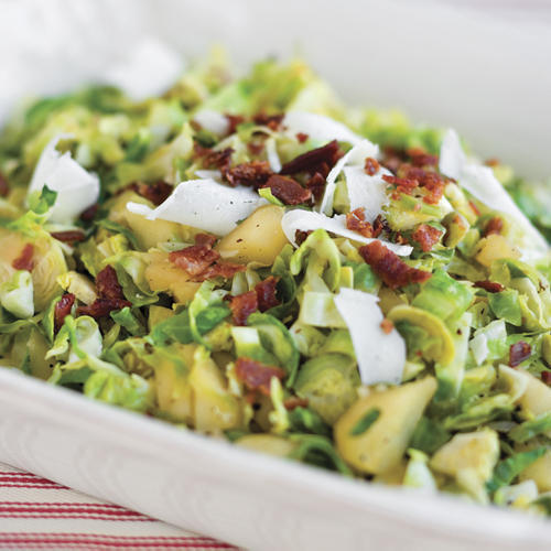 Sauted Brussels Sprouts With Apples