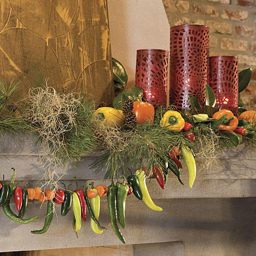 Spiced Up Mantel