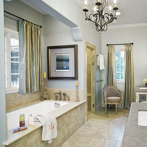Neutral Master Bathroom
