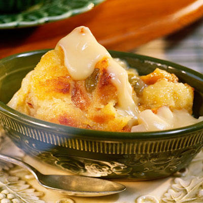 Bread Pudding with Vanilla Sauce from Southern Living.