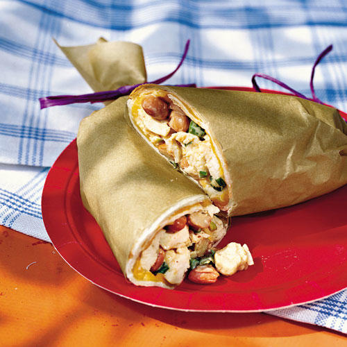 Quick and Easy Dinner Recipes: Chicken-and-Bean Slaw Wraps