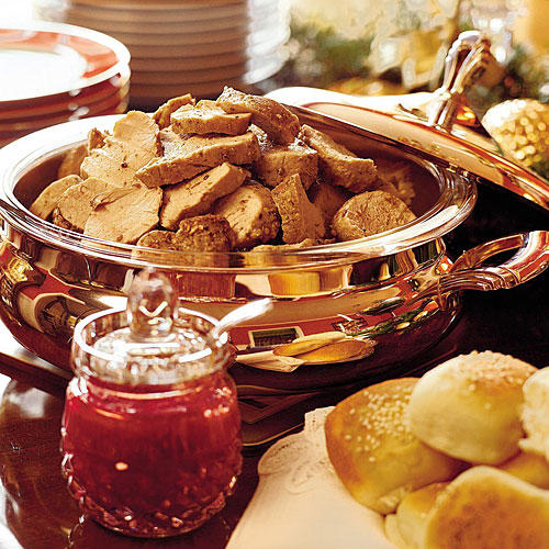 Pork Tenderloin Sandwiches With Cranberry-Coriander Conserve