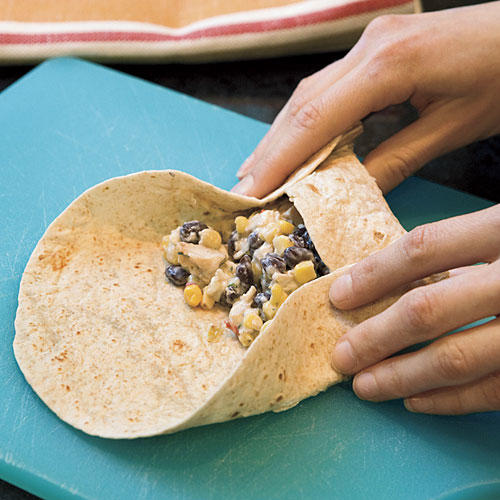 How to Fold Skillet-Grilled Burritos