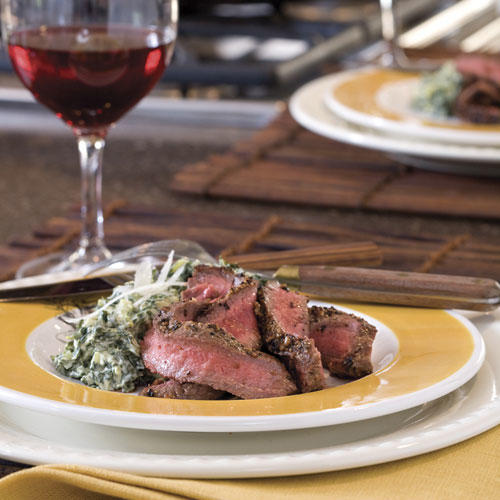 Pan-seared Flat Iron Steak