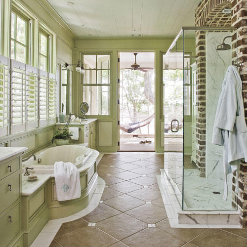 Green Home Bathroom: Green Decorating Ideas