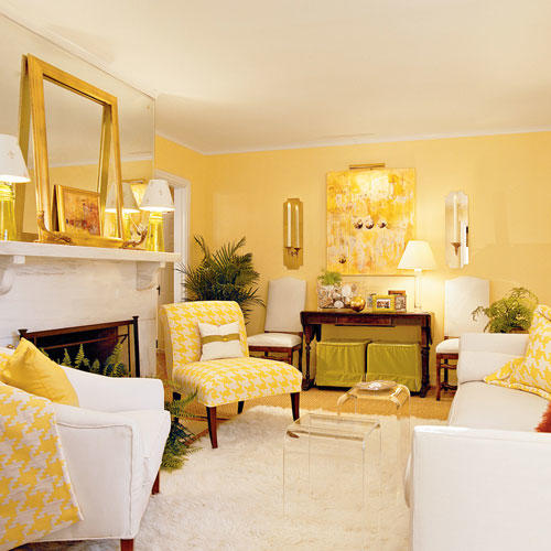Cheery Yellow Living Room