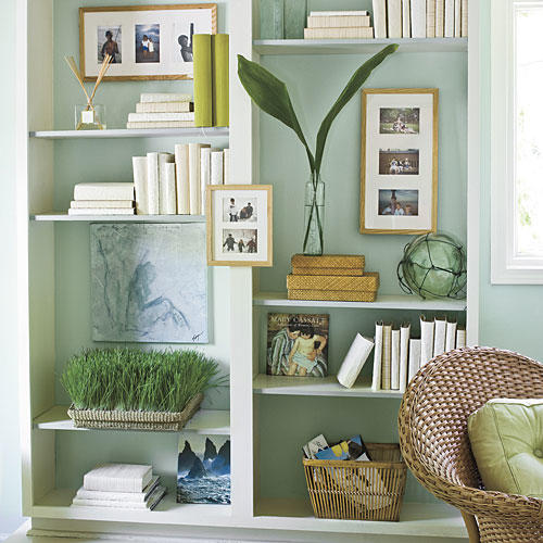 Built-In Bookcase Makeover