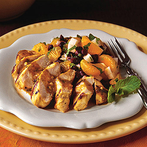 Cuban Mojo Chicken With Mandarin-Black Bean Salad