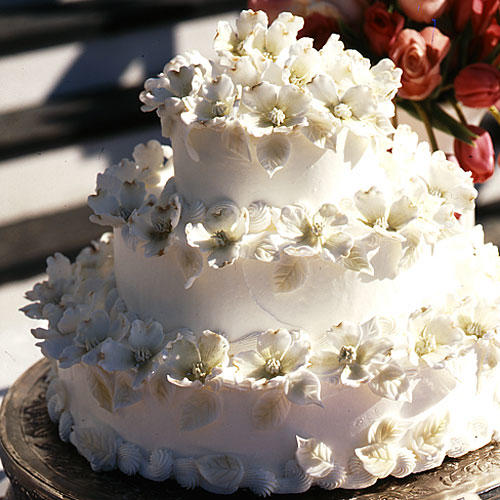 Dogwood Blossom Wedding Cake