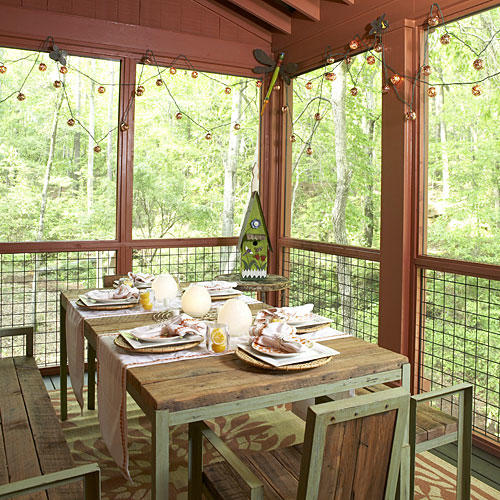20 Decorating Ideas From The Southern Living Idea House: Bright Outdoor Dining Ideas