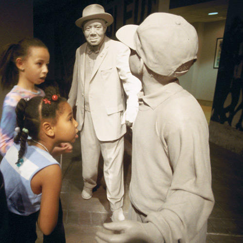 children at civil rights museum exhibit, birmingham, al