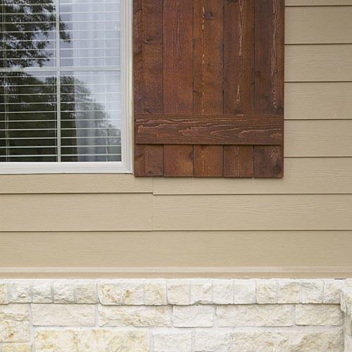 Cedar Shutters and Fiber Cement Siding