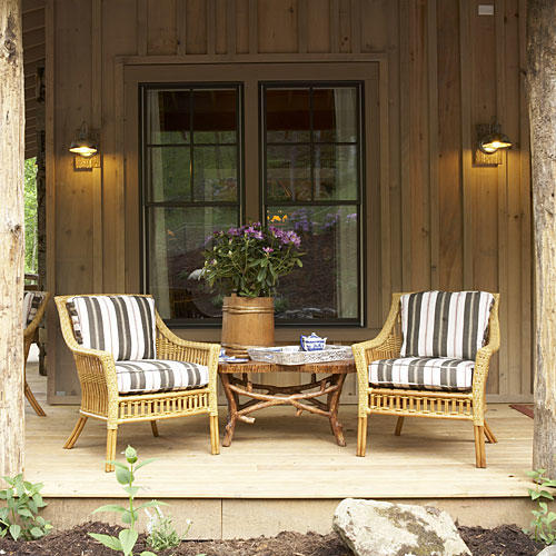 Roof Design Ideas: Cabin Decorating Ideas From The 2009 Giveaway House, The