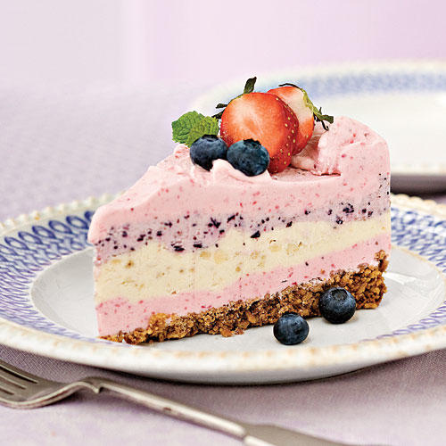 Strawberry Smoothie Ice Cream Pie