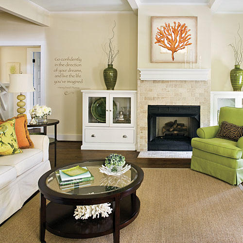 Design ideas for living rooms and dining rooms southern for Lounge room styling ideas