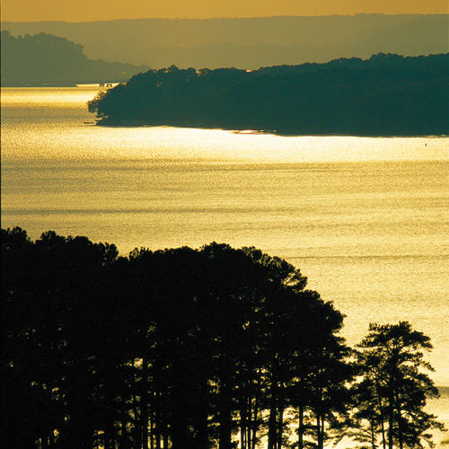 view of lake guntersville in north alabama