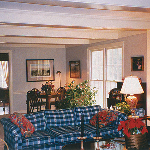 the living room interior design. a living room with blue and white checkered couch before design makeover Living Room Ideas  Southern