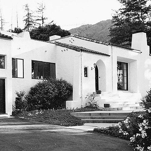Mediterranean-style, stucco, white-washed house