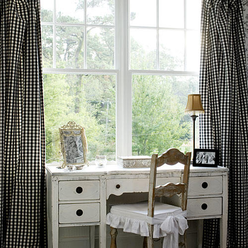 Gingham Window Treatments