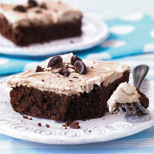 Cappuccino-Frosted Brownies
