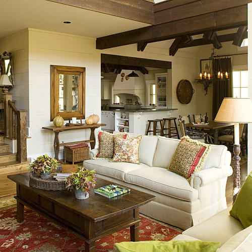 Southern Living Living Rooms: North Carolina Cottage Interiors: 2009 Southern Home