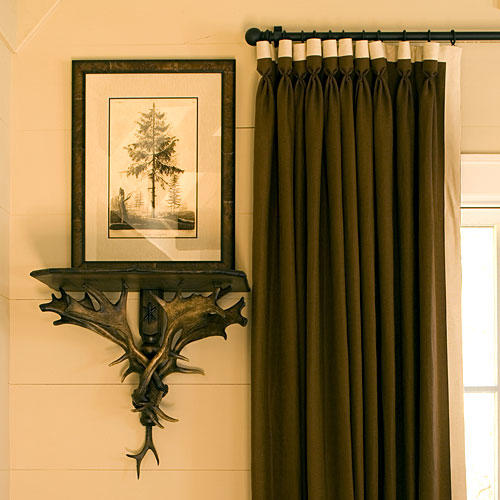 North Carolina Cottage Interiors: Wall Shelf and Picture Frame