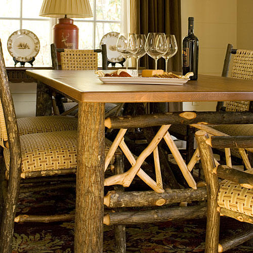 North Carolina Cottage Interiors: Dining Room Table and Chairs