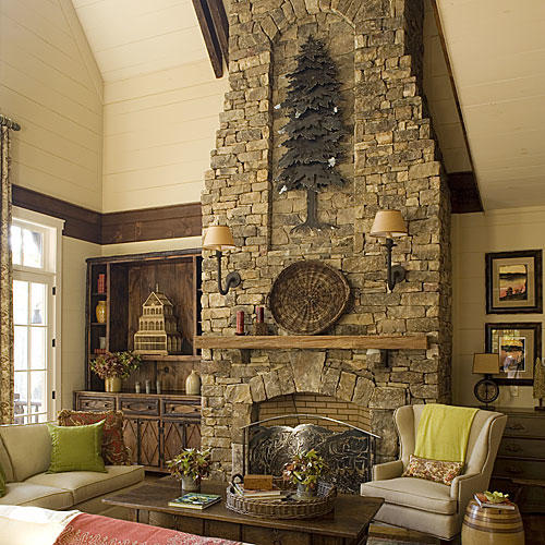 Cozy Ideas For Fireplace Mantels Southern Living - How to decorate a living room with a fireplace
