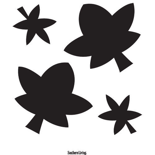 Fall Cluster Leaves Carving Template