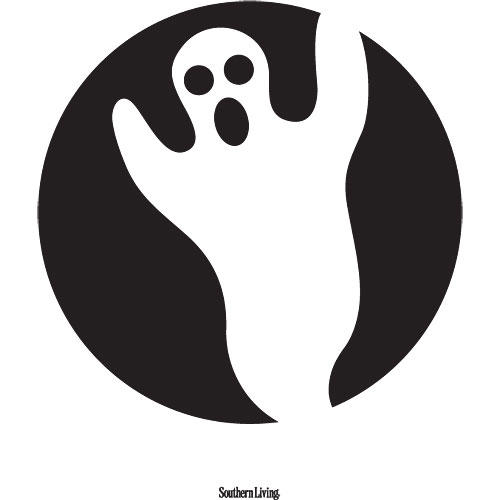Ghost Pumpkin Carving Template
