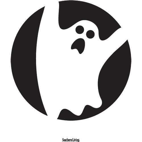 Scary Ghost Pumpkin Carving Template