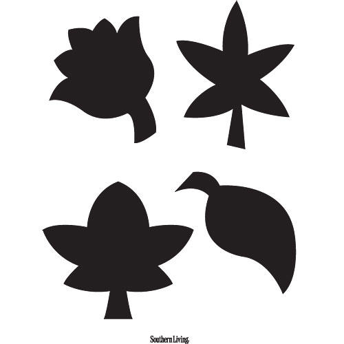 Variety Leaves Carving Template