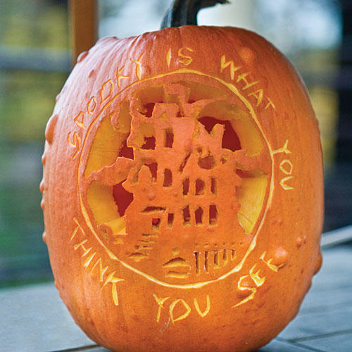 Pumpkin Carving Idea: Message Pumpkin