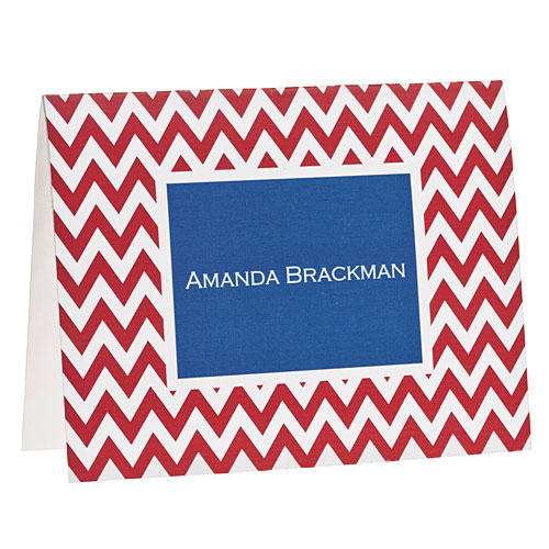Red Chevron Note Cards