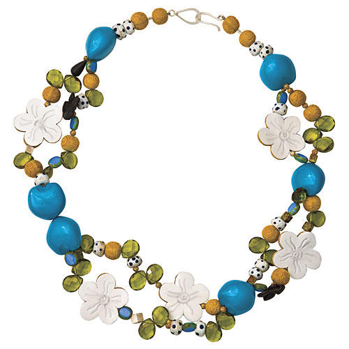 Southern Gift Ideas: Blue-and-Yellow Necklace