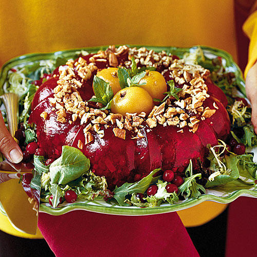 Thanksgiving Dinner Side Dishes: Cranberry Congealed Salad