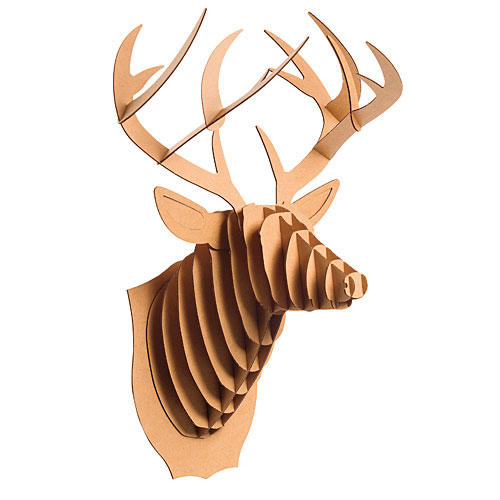 Christmas Gift Ideas: Cardboard Deer Trophy