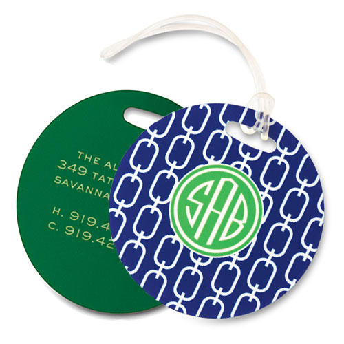 Chain Navy Bag Tag