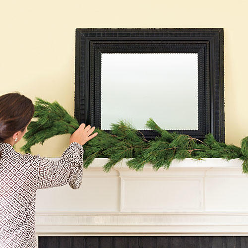Easy Christmas Mantels: Add Your Favorite Garland