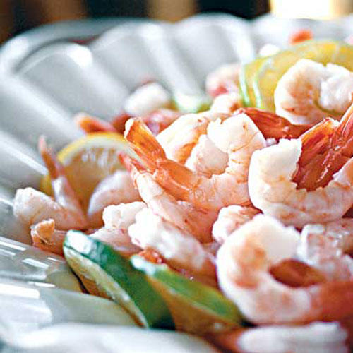 Boiled Shrimp With Rmoulade Sauce and Spicy Cocktail Sauce