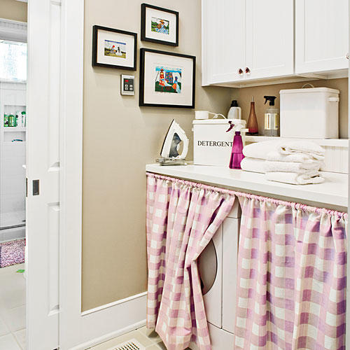 Hide The Laundry Room With Curtains