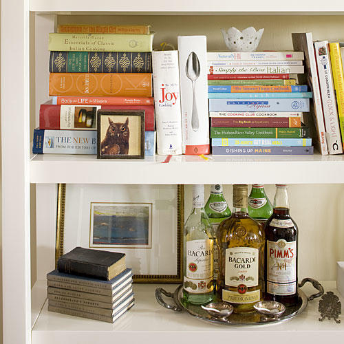 Artfully Arrange Bookshelves