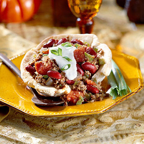 Ground Beef Recipes: Chili in a Biscuit Bowl