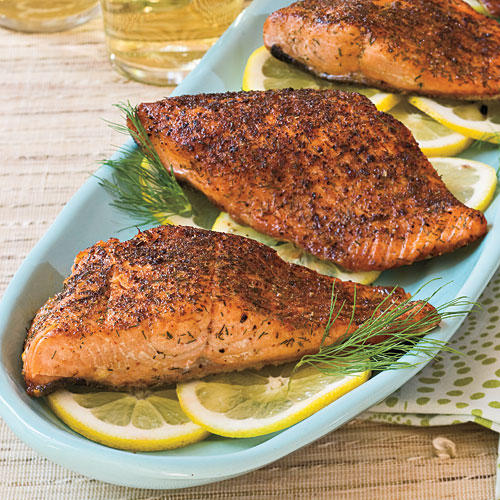 Quick and easy 20 minute dinner recipes southern living quick and easy dinner recipes chili rubbed salmon forumfinder Images