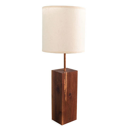 Charleston Goods: Reclaimed Black Walnut Lamp