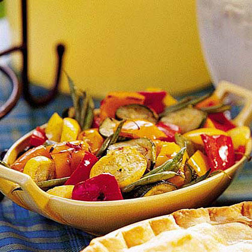 Vegetarian Grilling Recipes: Grilled Marinated Vegetable Salad